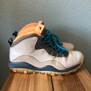 """Air Jordan 10 Retro """"BOBCATS"""" Men's Shoes Size 9.5"""